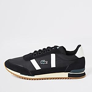Lacoste – Schwarze Retro-Sneakers