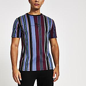T-shirt slim Maison Riviera rayé rouge