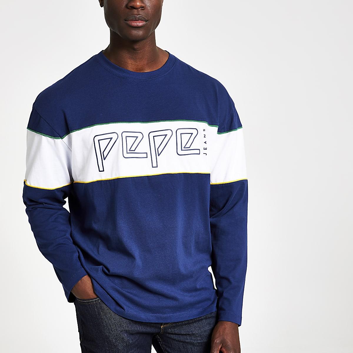 Pepe Jeans blue logo sweatshirt