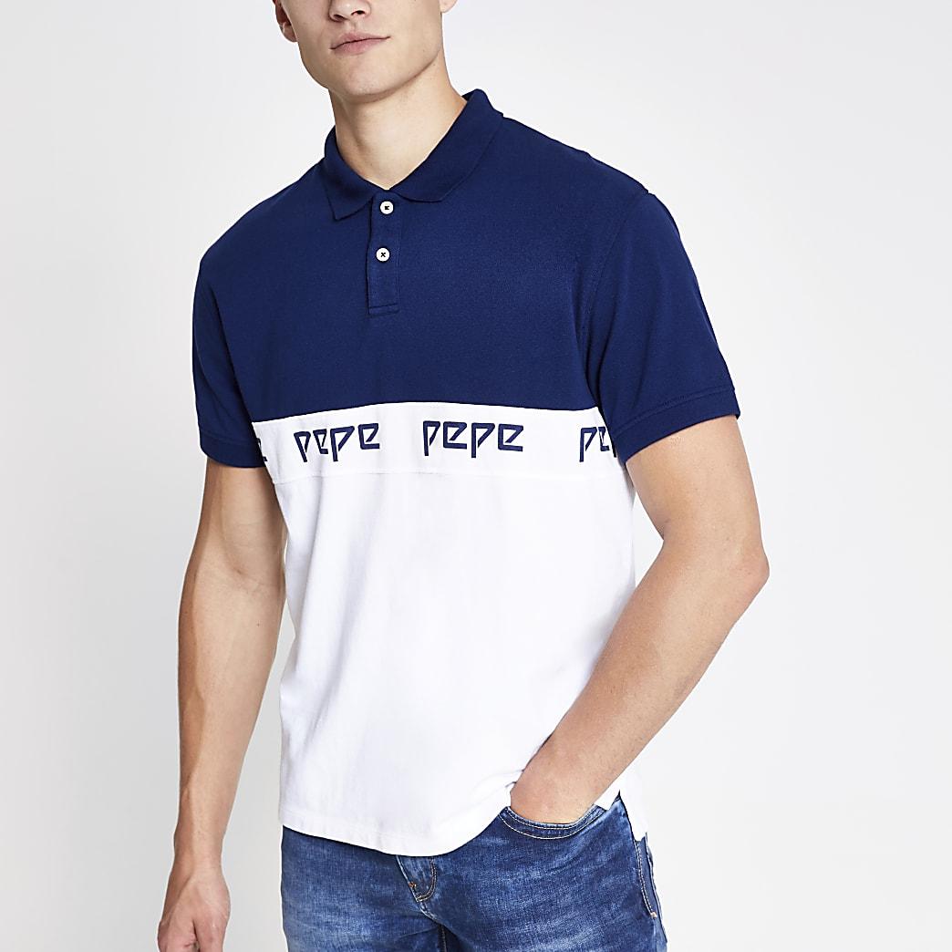 Pepe Jeans blue polo shirt