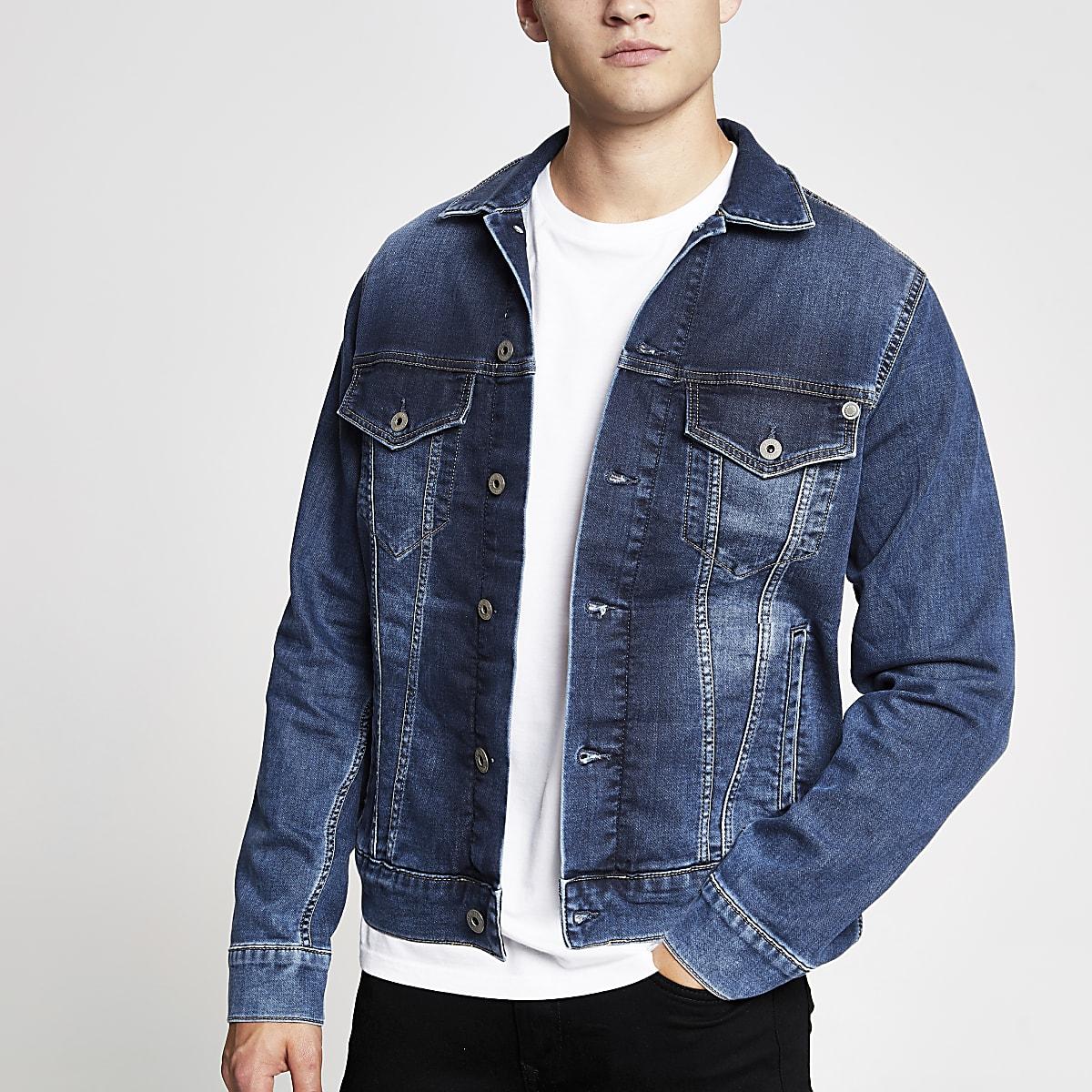 Pepe Jeans – Veste en denim bleue