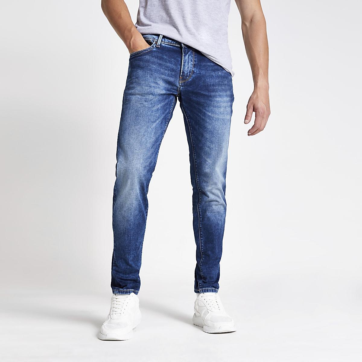 Pepe Jeans - Blauwe slim-fit jeans