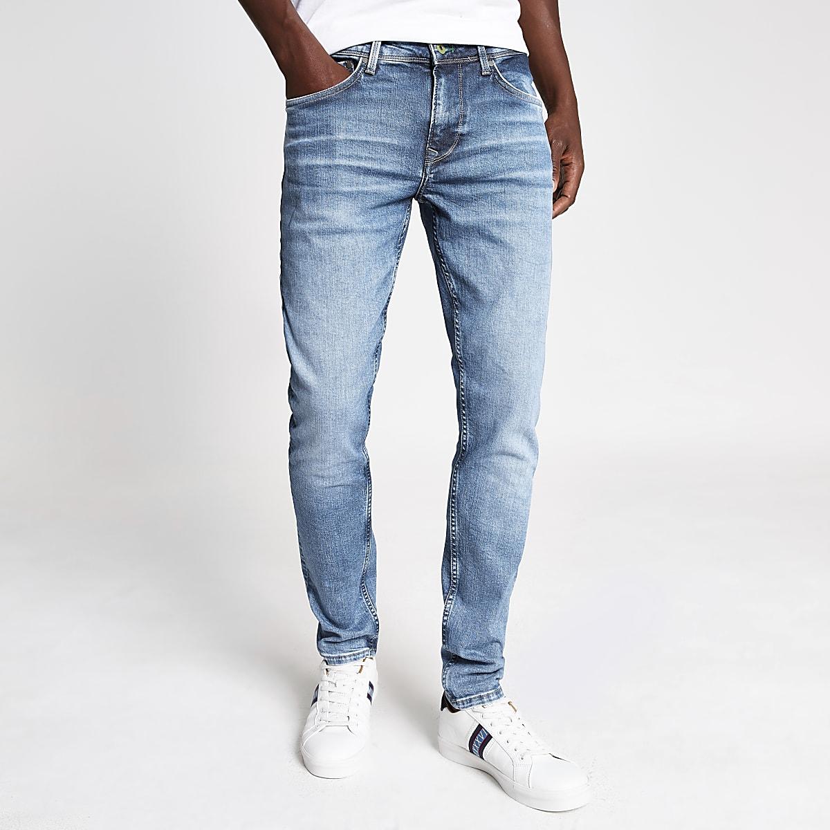 Pepe Jeans – Hellblaue Skinny Jeans