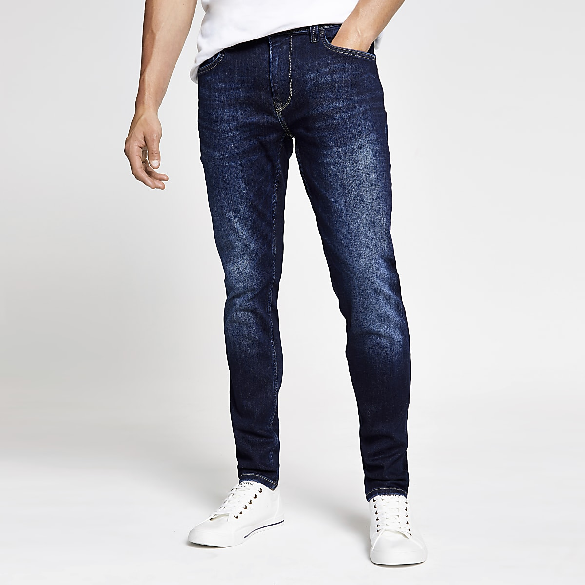 Pepe Jeans - Lichtblauwe skinny jeans