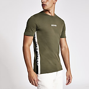 "Khaki Slim Fit T-Shirt ""Undefined"""