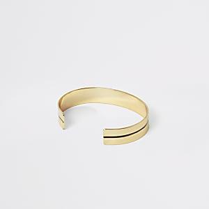 Goudkleurige brede armband