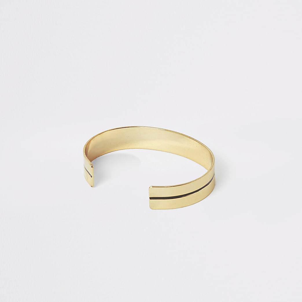 Gold colour cuff bracelet