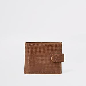 Light brown textured wallet