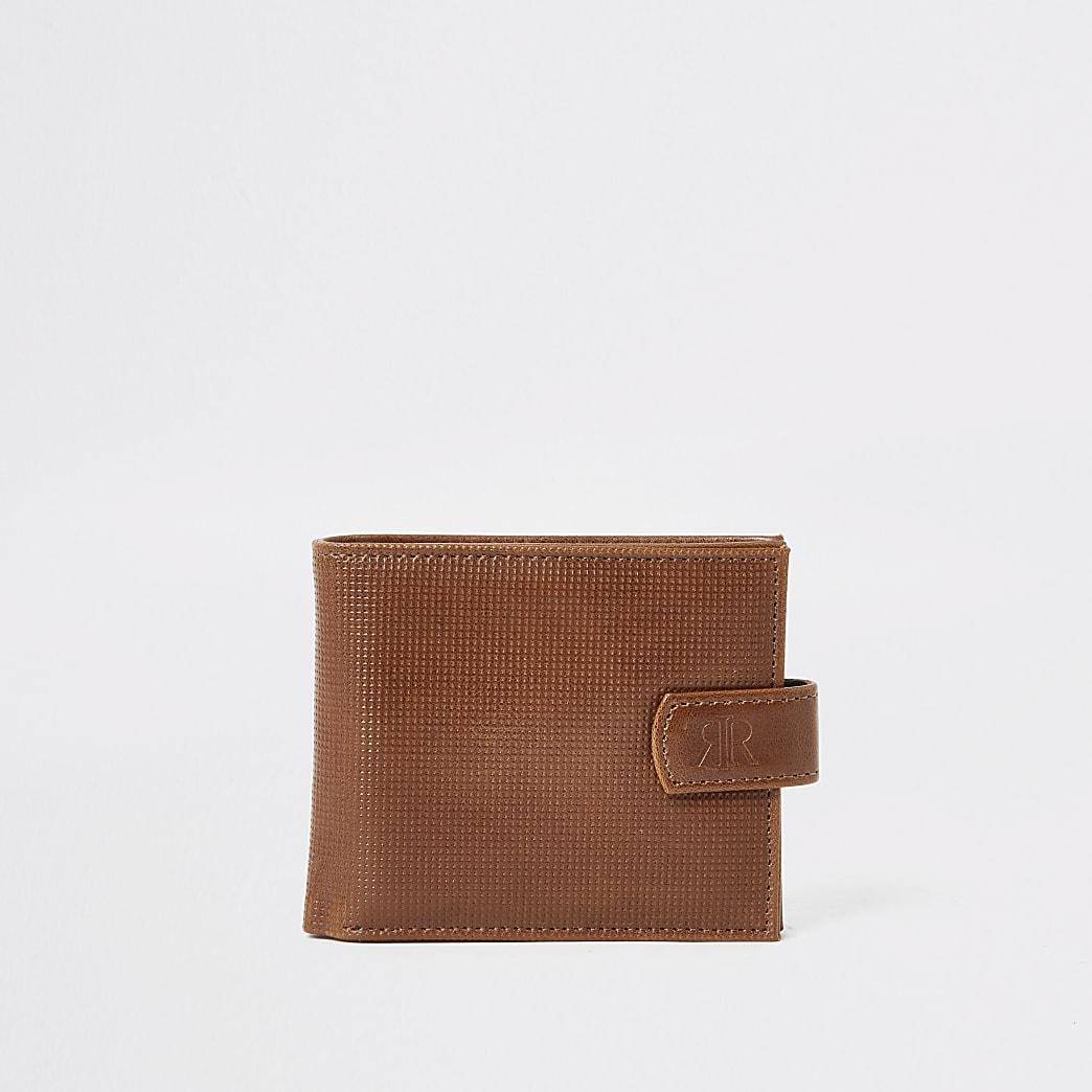 Lichtbruine portemonnee met textuur