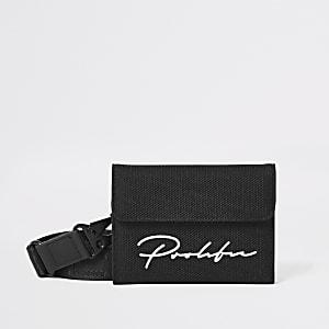 Prolific- Zwarte klitteband portemonnee