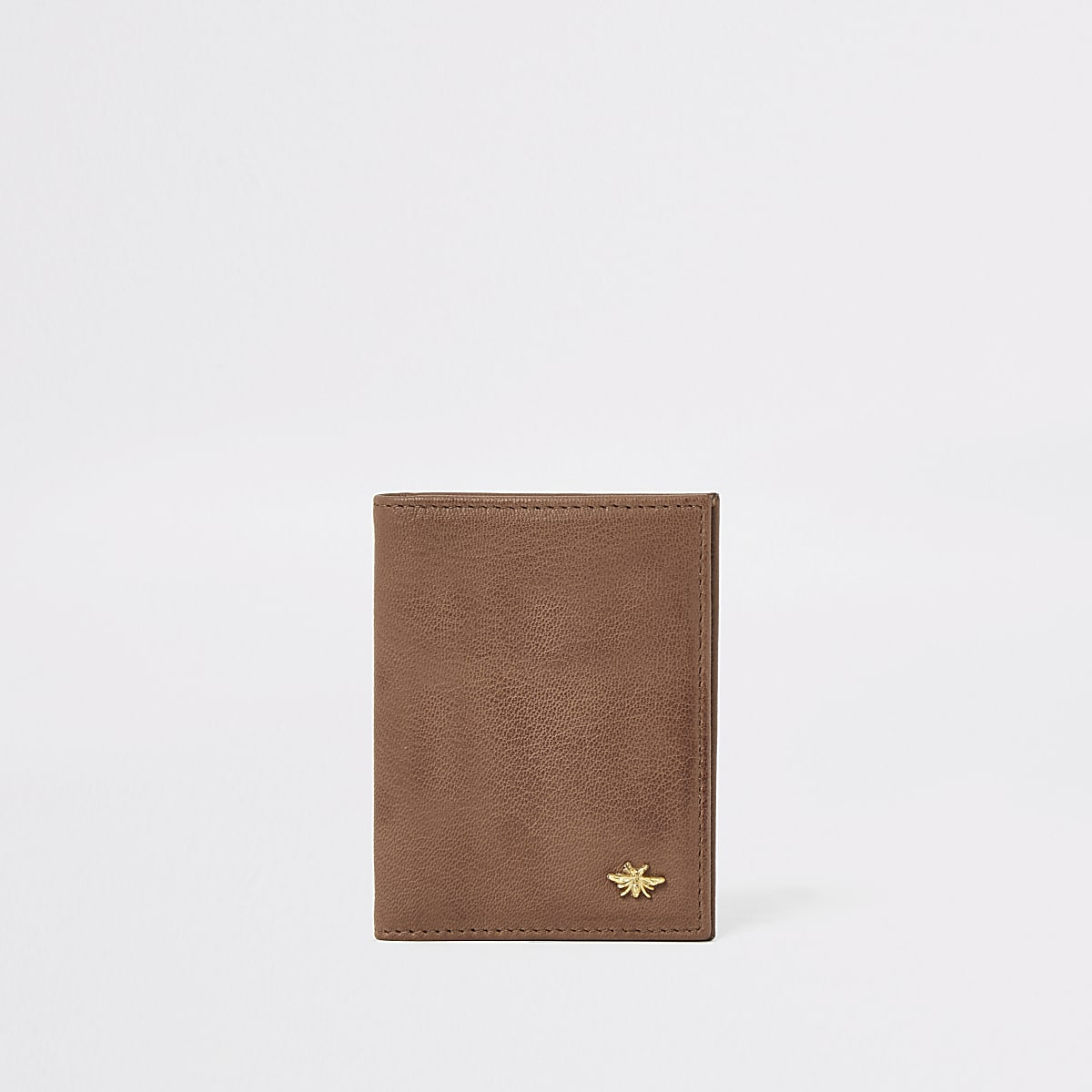 Brown leather wasp wallet