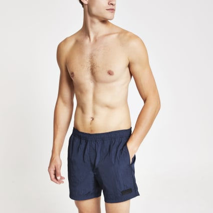 Navy Maison Riviera nylon swim shorts