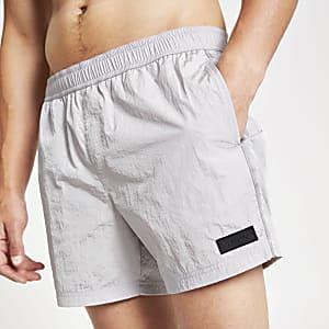 Shorts de bain 'Maison Riviera' gris en nylon