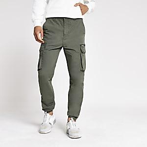 Skinny Fit Cargo-Hose in Khaki