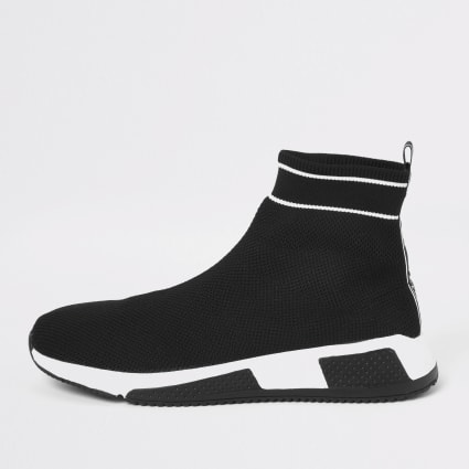 Black Prolific sock runner trainers