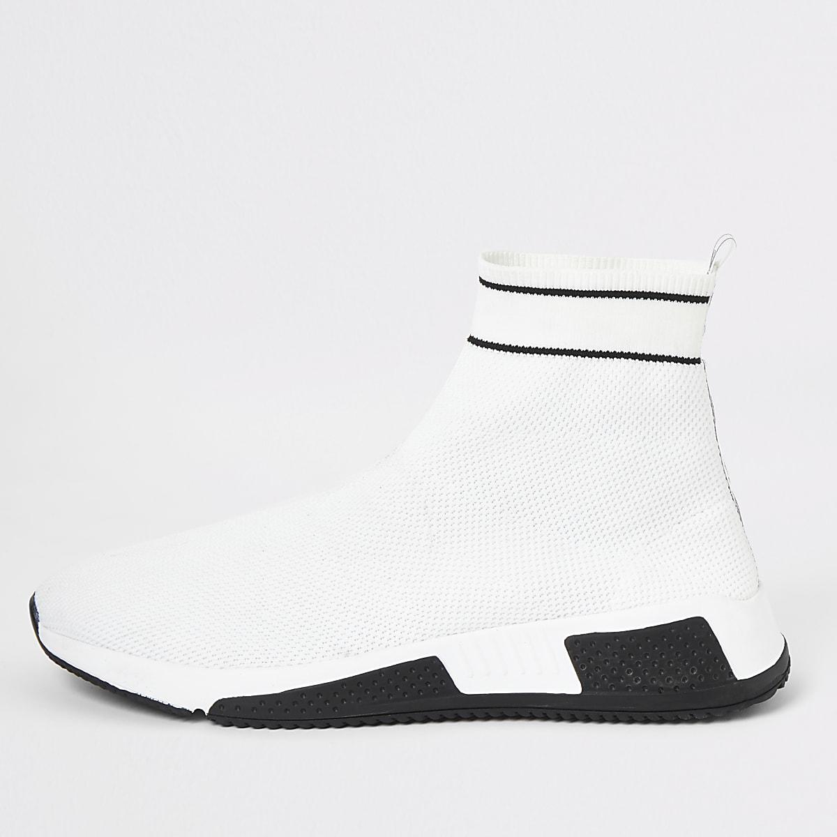 Baskets de course chaussettes «Prolific» blanches