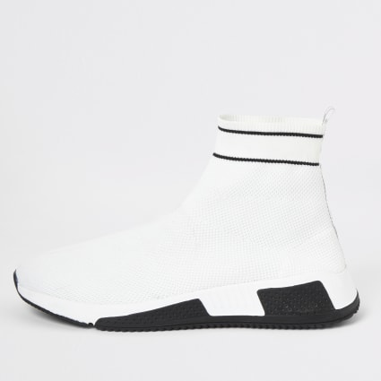 White Prolific sock runner trainers