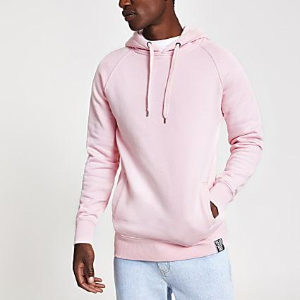 Year Dot pink logo back print hoodie