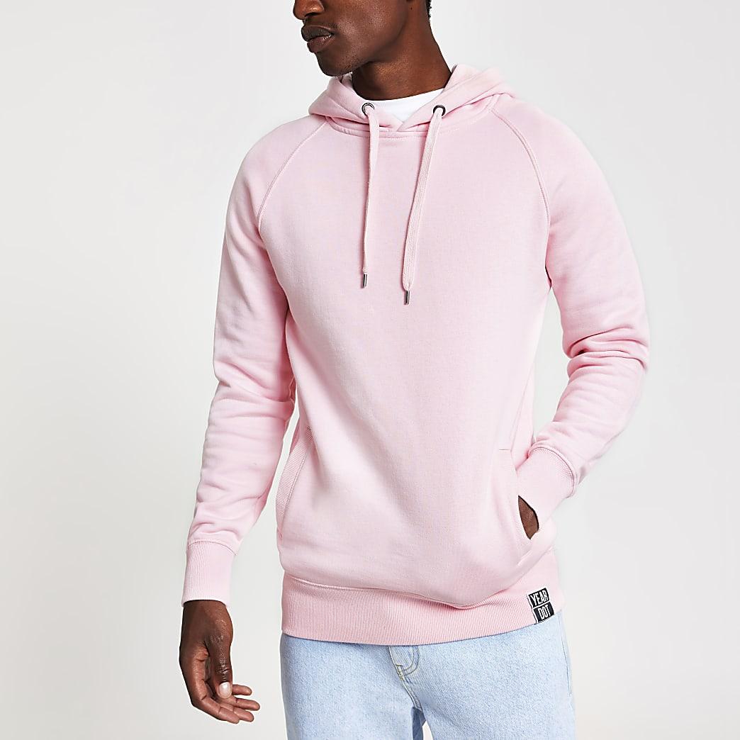 Year Dot - Roze hoodie met logoprint op de rug