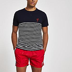 Year Dot – Marineblaues T-Shirt mit Streifen