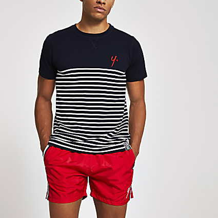 Year Dot navy stripe T-shirt