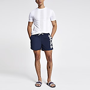 Jack and Jones navy swim shorts