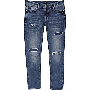 Sid – Jean skinny bleu moyen déchiré