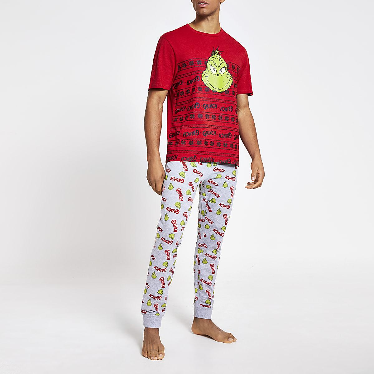 Pyjama Grinch rouge