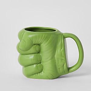 Tasse verte en forme de poing de hulk des Vengeurs de Marvel