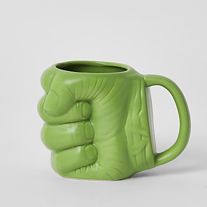 Marvel Avengers green hulk fist mug