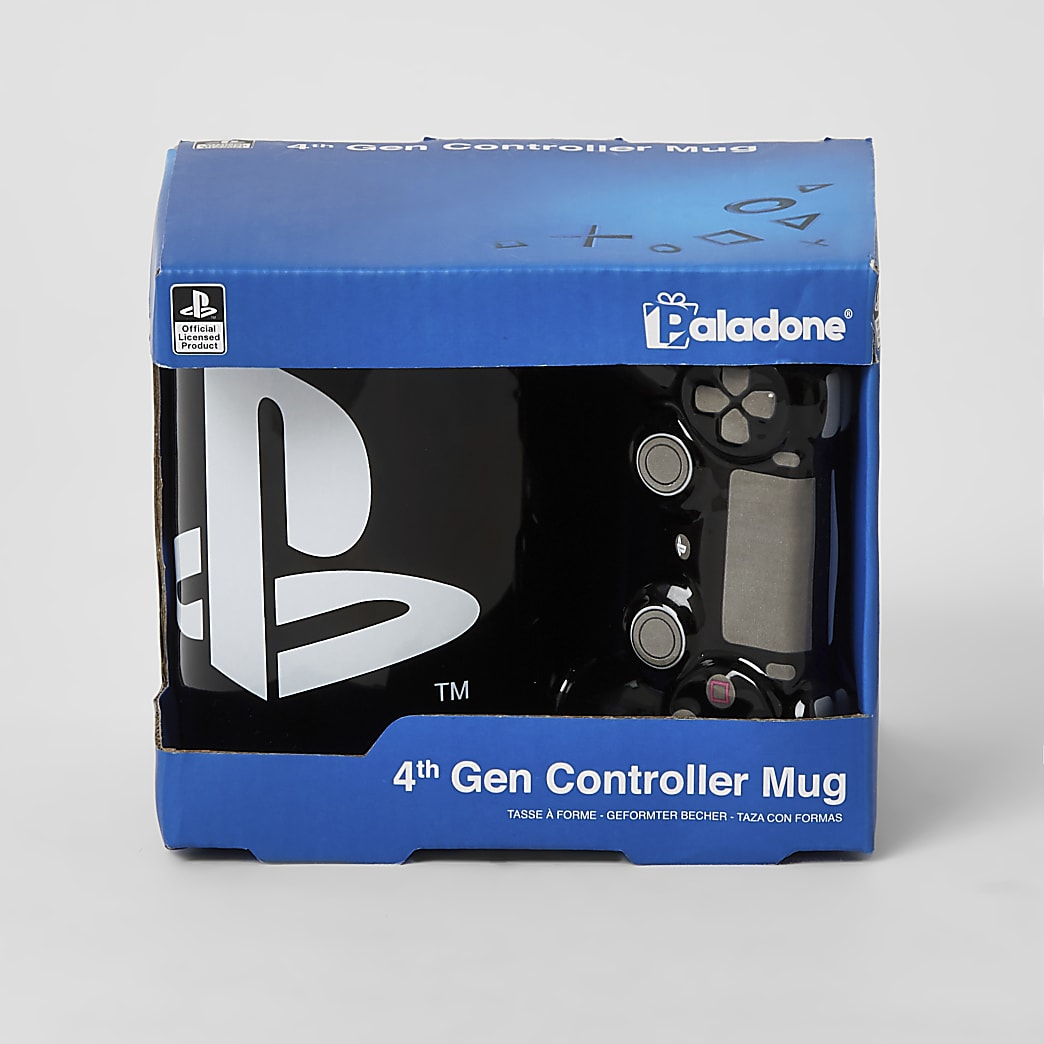 Playstation black controller printed mug