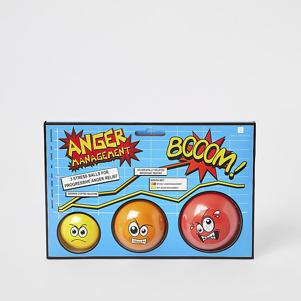 Set van 3 Anger-stressballen