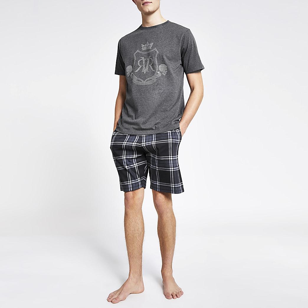 Grijze pyjama-set met RVR print