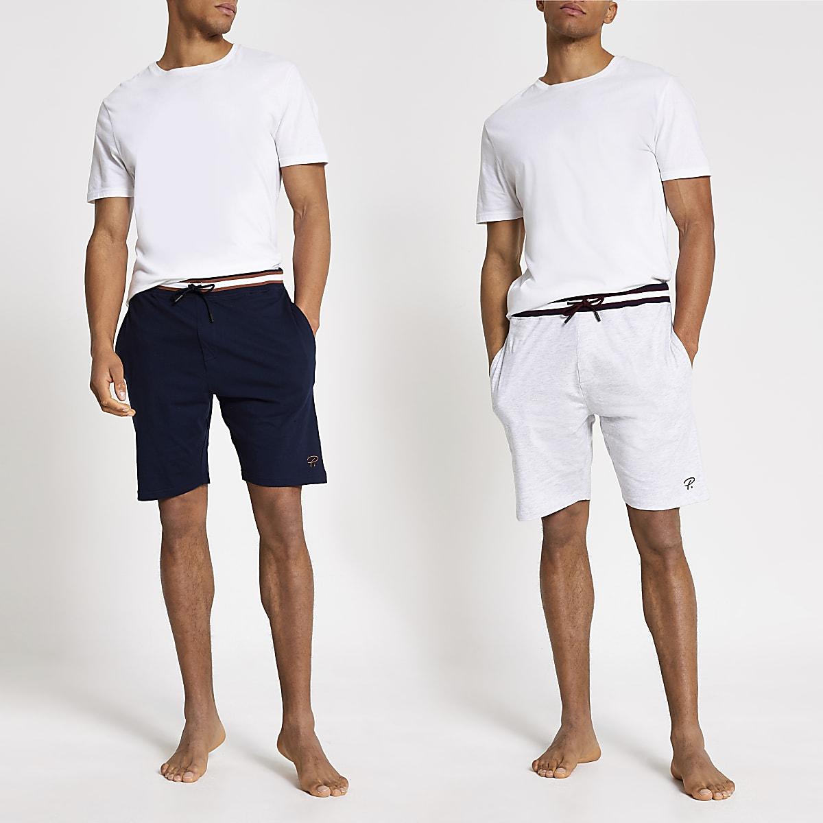 Grey Prolific loungewear shorts 2 pack