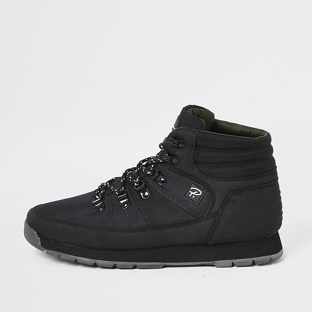Prolific black mid top hiking boots