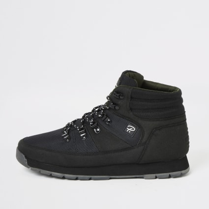 Black Prolific mid top hiking boots