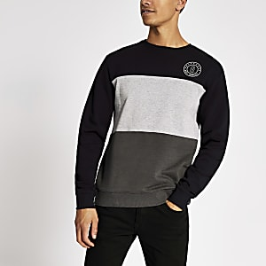 Only & Sons Sweatshirt in Khaki in Blockfarben