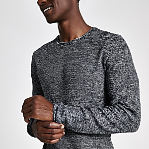 Only & Sons - Blauwe pullover met ronde hals