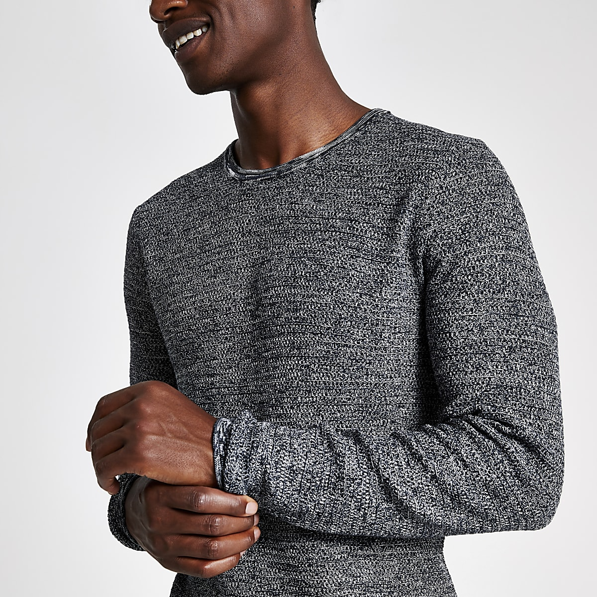 Only & Sons blue crew neck jumper