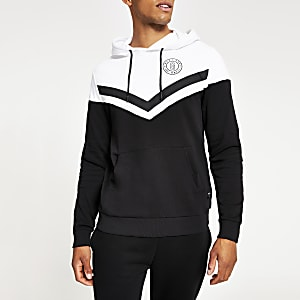 Only & Sons – Sweat à capuche colour block noir