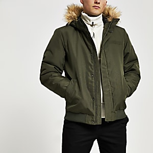 Only & Sons – Pufferjacke in Khaki