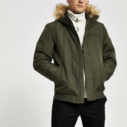 Only & Sons khaki puffer jacket
