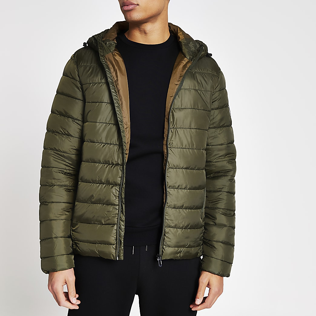 Only and Sons khaki padded jacket