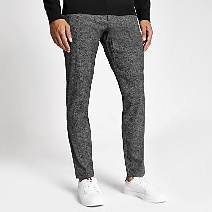 Only & Sons grey tapered leg trousers