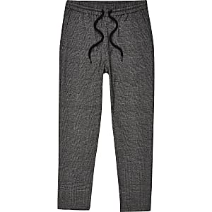 Only & Sons – Pantalon de survêtement à carreaux gris