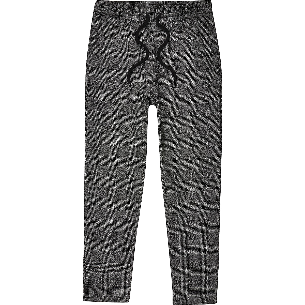 Only & Sons grey check track pants