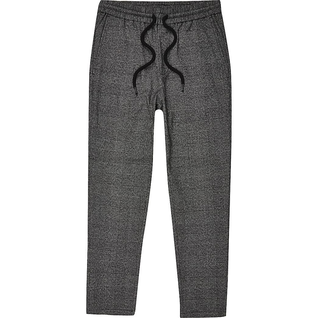 Only & Sons – Pantalon de survêtement à carreaux gris