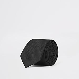 Zwarte stropdas met textuur