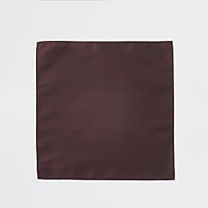 Mouchoir de poche rougeà chevrons