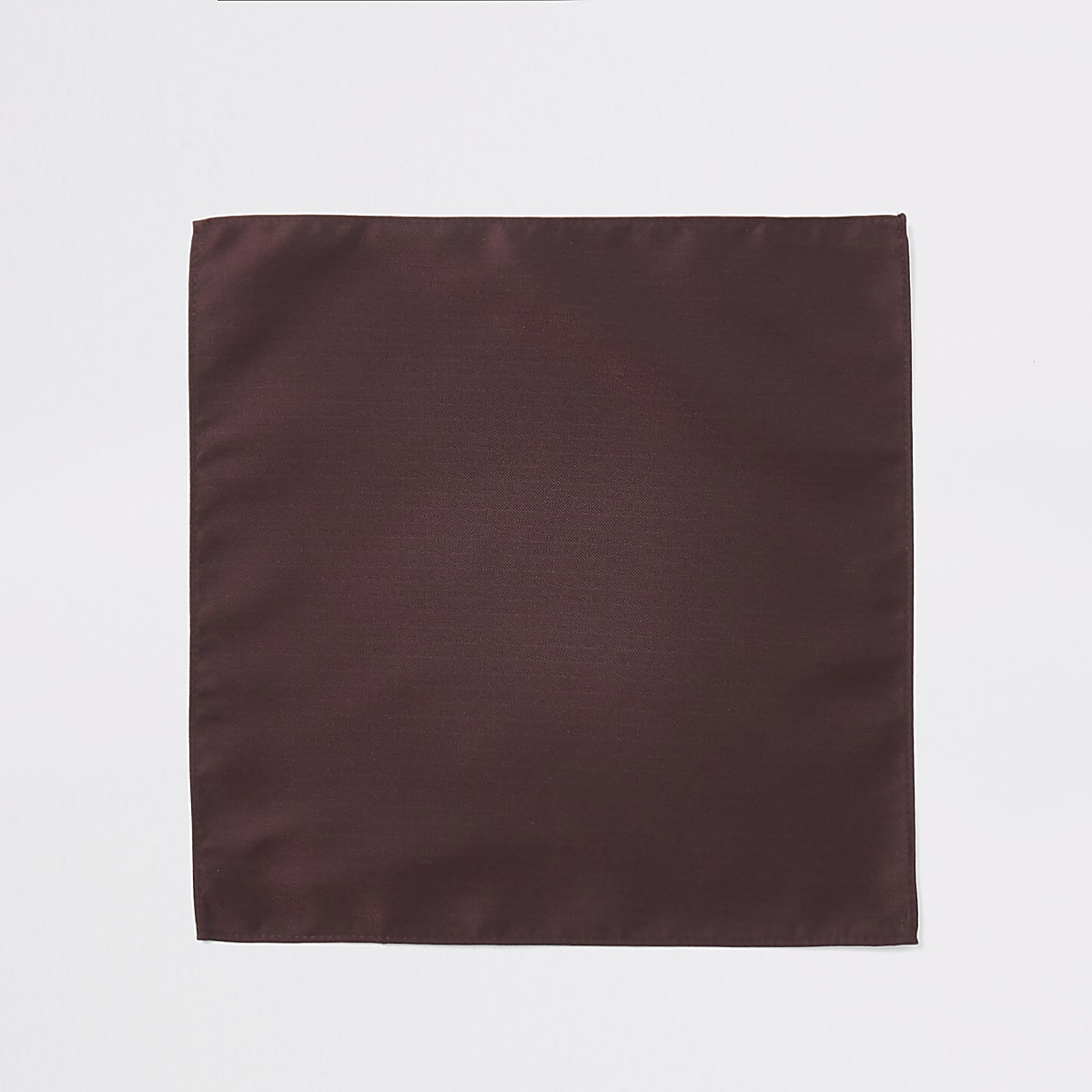 Red herringbone pocket square
